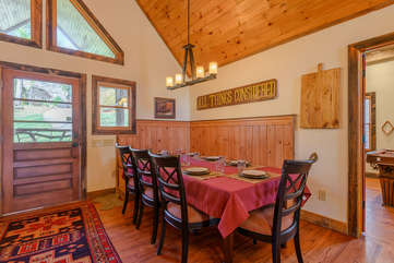 Big Dining Table, comfortably seats 8 guests