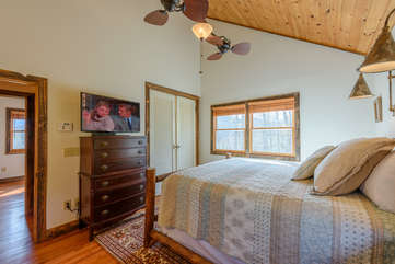 King Master Suite with HDTV