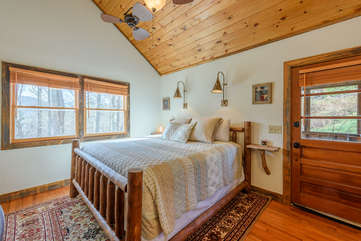 King Master Suite with Vaulted Ceilings