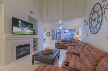 Get ready to be comfortable in newly furnished great room with cozy gas fireplace and large television