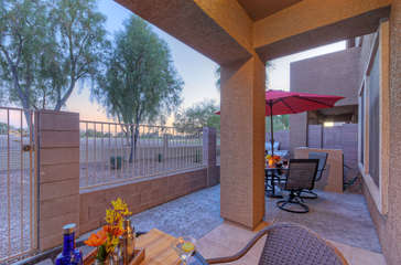 What could be better than relaxing or dining out on private patio in sunny and warm Arizona!