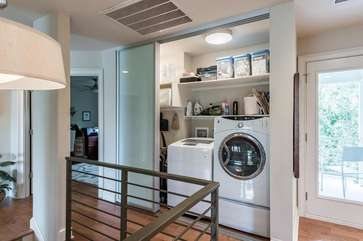There is a convenient washer/dryer laundry closet on the second floor.