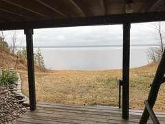 back, lake view deck